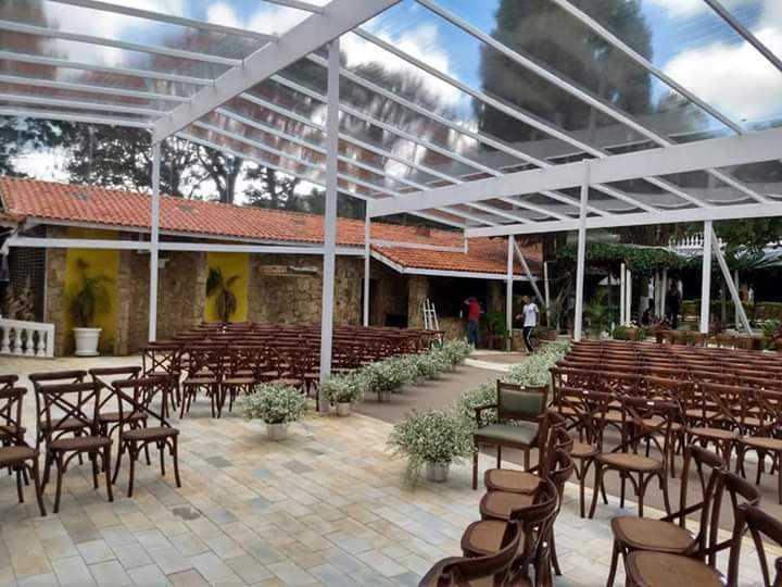 Tenda para festa , Cerimonia de Casamento 120 m2 90 pessoas .